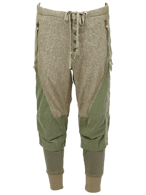 army style cropped trousers